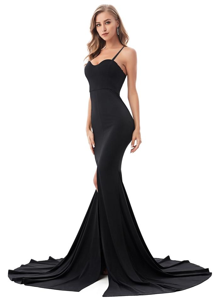 Strapless Split Front  Mermaid Sleeveless Elegant Dress 20