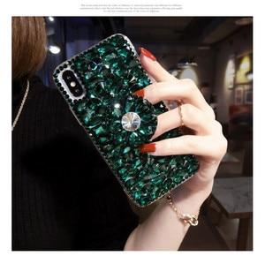 Image 3 - Caso de telefone luxo bling cristal diamantes 3d pedras suporte macio capa traseira para huawei p20 p30 p40 lite plus mate 20 30 lite pro