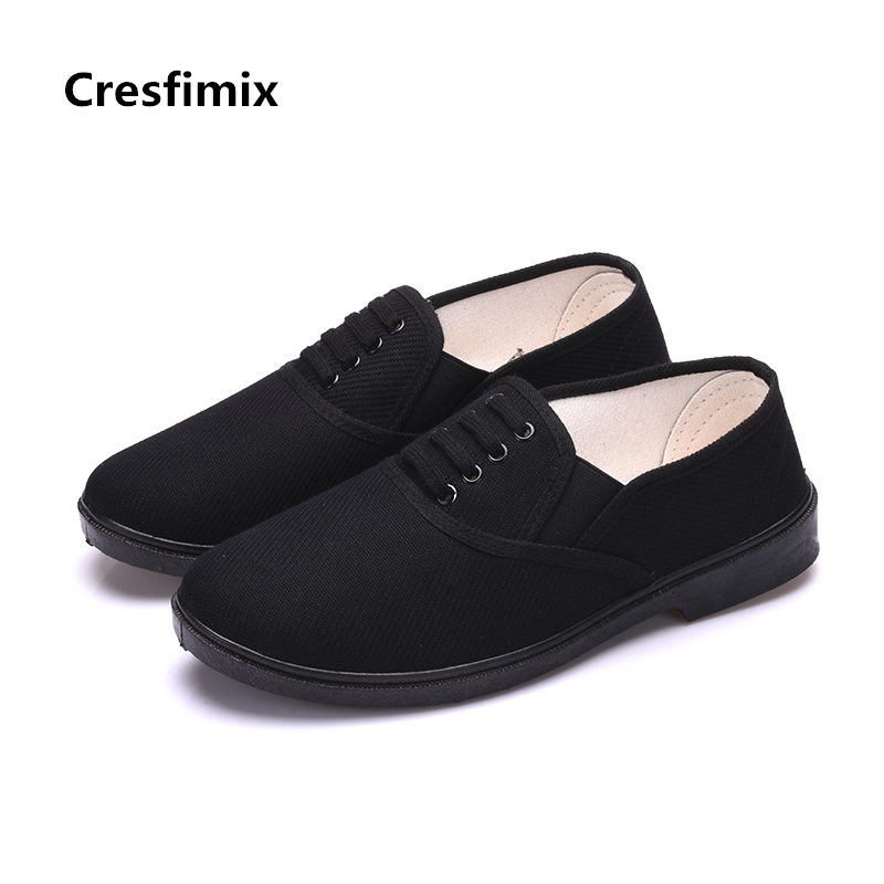 Zapatos Hombre Male Fashion Comfortable Spring & Summer Slip on All Black Shoes Men Casual Stylish Anti Skid Work Shoes <font><b>E2690</b></font> image