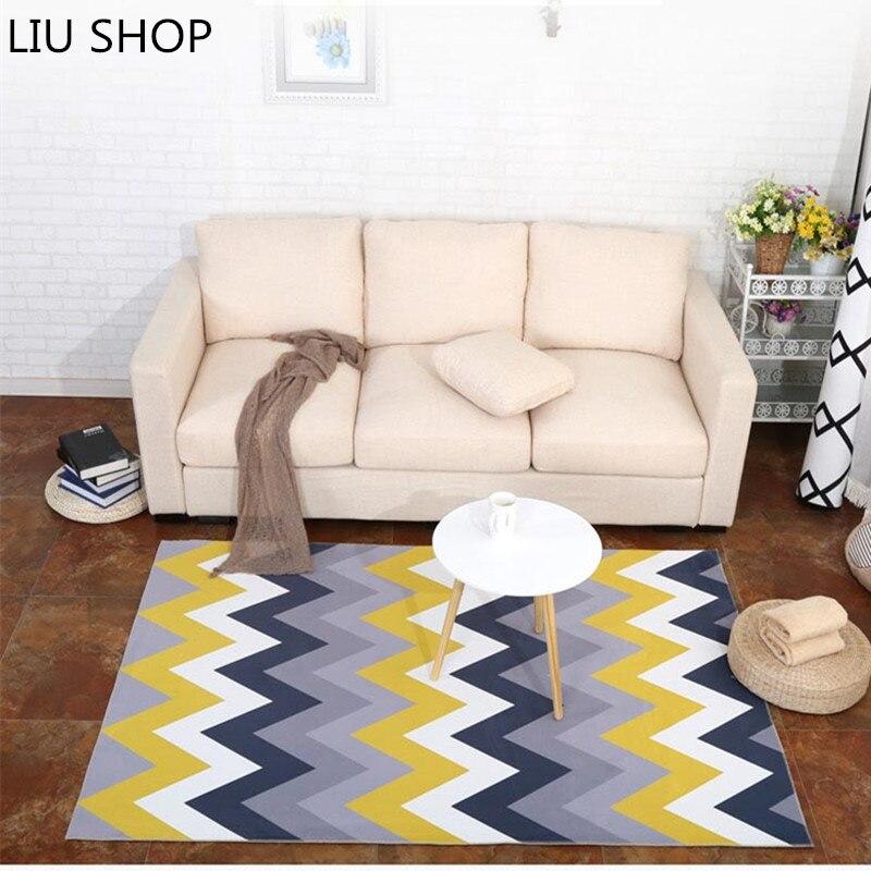 US $35.05 31% OFF|LIU mode Nordic teppich für wohnzimmer teppich  schlafzimmer bett flur weichkorallen samt teppich rechteckigen sofa  couchtisch ...