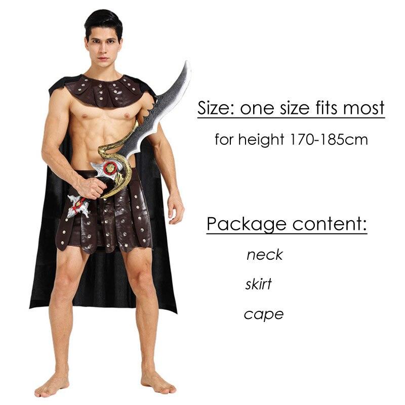 Umorden Halloween Carnival Party Costume Adult Couple Roman Greek Armor Soldier Warrior Gladiator Costumes Dresses for Men Women