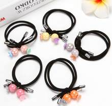 2PCS/Set New Korean Girl Elastic Hair Rubber Bands Women Hair Accessories Luxury Pearl Tie Gum Children Ponytail Holder Ornament(China)