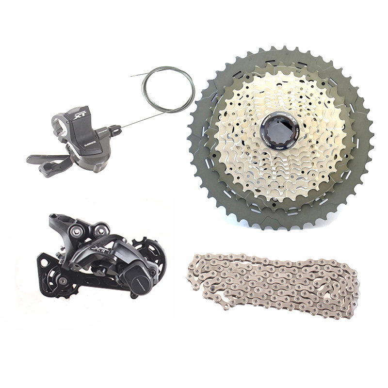 SHIMANO DEORE XT M8000 1x11 11S Speed 11-40T 11-42T 11-46T Groupset Contains Shifter Lever & Rear Dearilleur & Cassette & Chain shimano x t r sl m9000 thumb shifter left