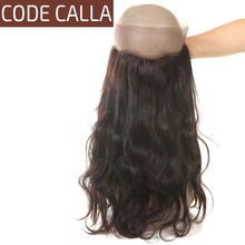 Code Calla Unprocessed Brazilian Raw Virgin Hair Body Wave 360 Brand Lace Frontal With Baby Hair 100% Human Hair Pre Plucked