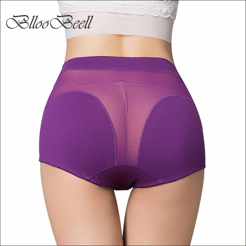BllooBeell 4pcs Women Cotton Underwear Sexy   Panties   Hollow Out Lace Women's Briefs High-Rise Ladies Underpants Size L/XL/XXXL