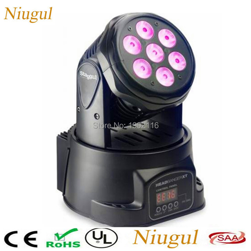 Niugul 7x12W 4in1 LED Lamp/Mini Led Moving Head /LED Beam Wash Effect/LED Spot Light /DJ Disco Club Party Wedding Stage Lighting free shipping 6pcs lot 120w moving head light sharpy beam 2r led lights dj disco club party wedding stage effect