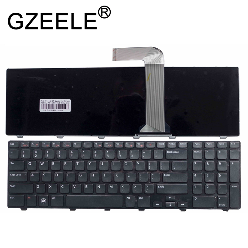 GZEELE US layout English keyboard For Dell Inspiron 17R N7110 17R 7110 XPS 17 L702X laptop keyboard BLACK-in Replacement Keyboards from Computer & Office on