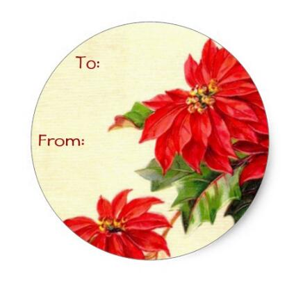 Christmas Name Tags.Us 20 0 1 5inch Vintage Christmas Name Tags Classic Round Sticker In Stationery Stickers From Office School Supplies On Aliexpress Com Alibaba