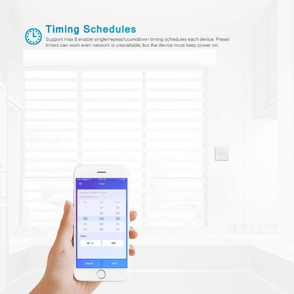 Smart Roller Shutter Wifi Switch untuk Listrik Bermotor Blinds Tirai Motor Ewelink Aplikasi Kontrol Suara dengan Alexa Google Home