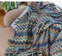 mylb Bohemian Knitted Blanket Sofa Cover Towel Decorative Blanket Bed Blanket