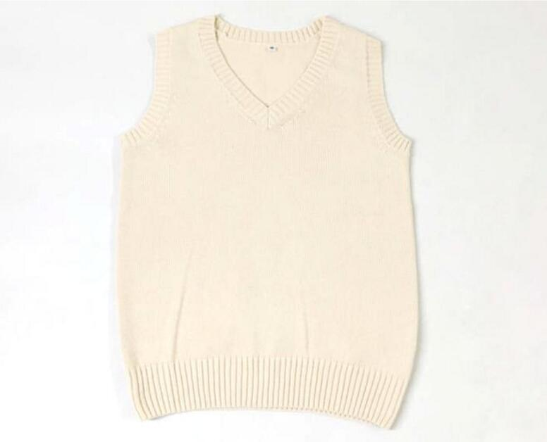 Muchachas calientes de La Venta Nuevos Uniformes Escolares Suéter Camisa Chaleco