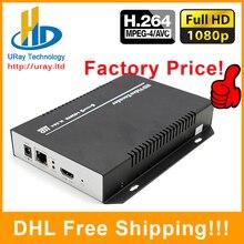 DHL Frete Grátis MPEG4/H.264 HDMI Para IP Codificador/Codificador Para IPTV Streaming De Vídeo HD, Streaming De Transmissão ao vivo, Servidor de mídia