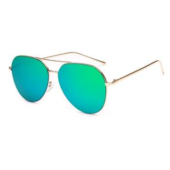 VictoryLip 2017 Fashion Rose Gold Brand Designer Ladies Sunglasses Women Men Piolt mirror Metal Frame Sun Glasses aviation 6