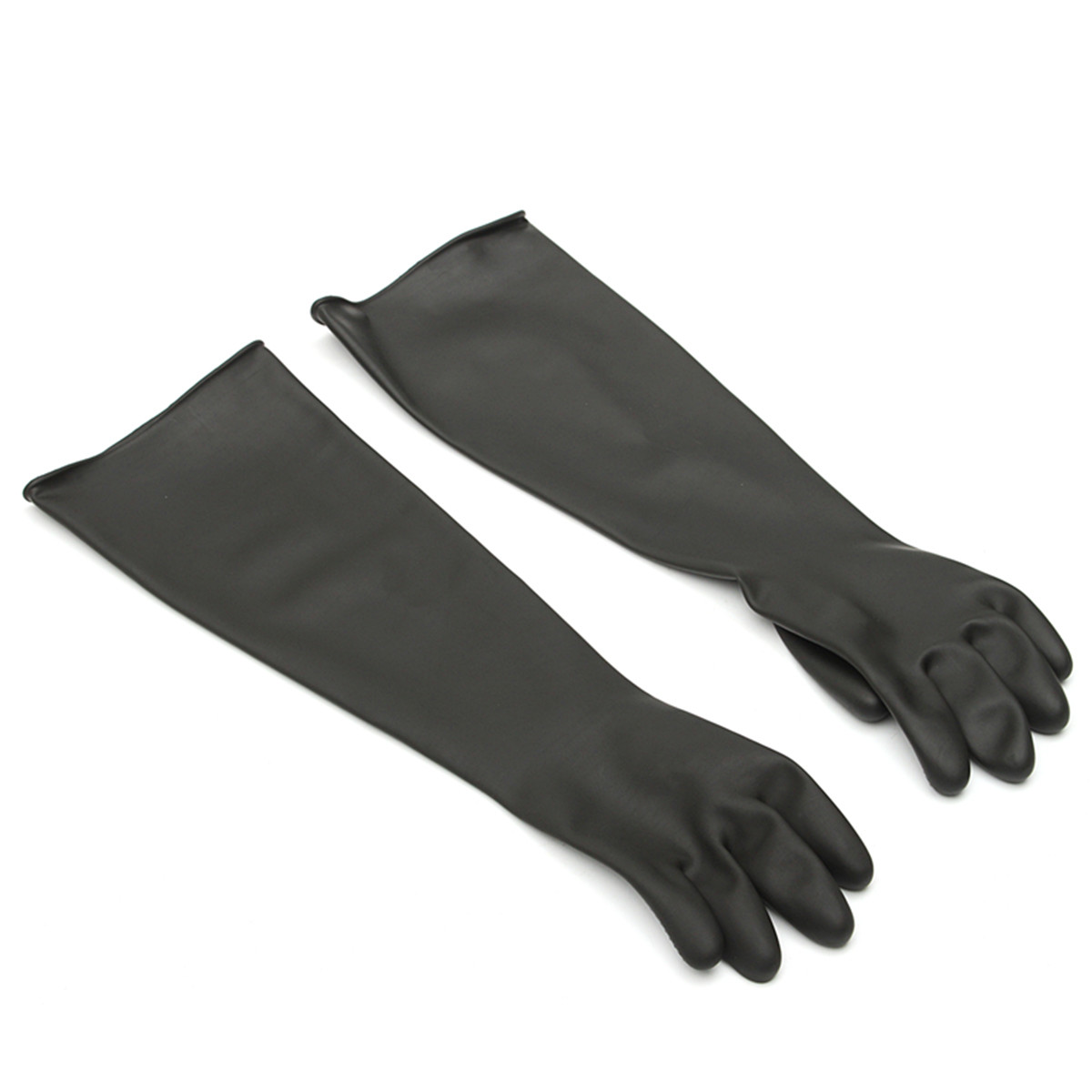 NEW 1 Pair Emulsion Chemical Resistance Industry Elbow Long Rubber Gloves Acid Chemical Midoni Security Safely Black anti acid and alkali chemical corrosion fisheries agriculture latex rubber gloves labor supplies black