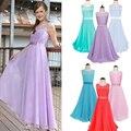 Nuevo Diseño de Los Niños Niñas Princesa de Encaje Vestidos de Baile para Las Damas de Honor de La Boda Vestidos de La Muchacha Teenger Realizar Vestido Largo Ropa