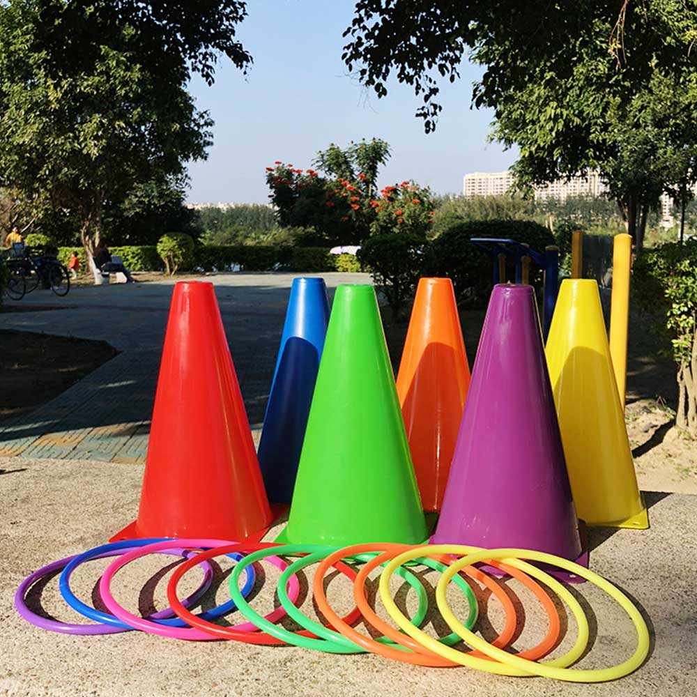 Outdoor Sports Circle Stacked Layers Game Parent-Child Interactive Family Party Toys Kids Educational Throwing Rings Set