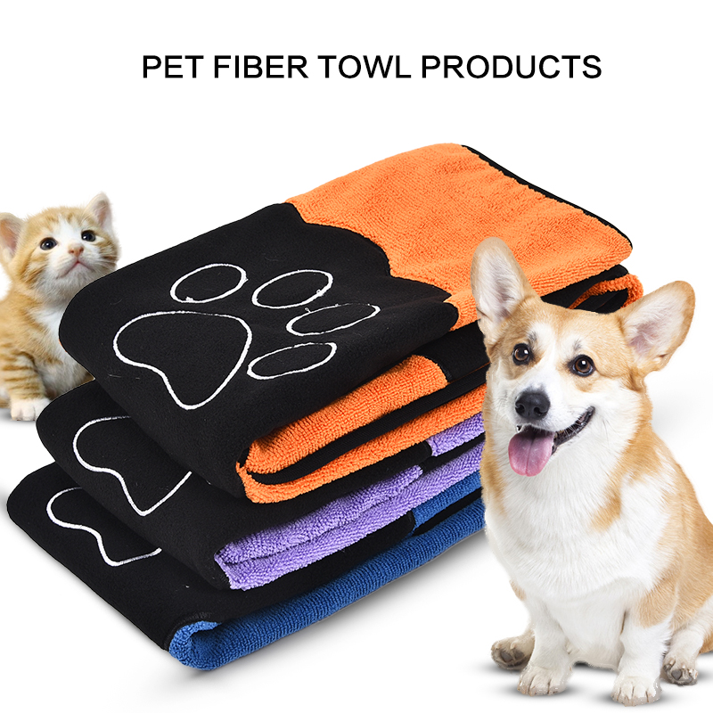 Dog Cat Cleaning Necessary Pet Drying Towel Ultra-absorbent Dog Bath Towel Made By Microfiber High Quality Pet Product