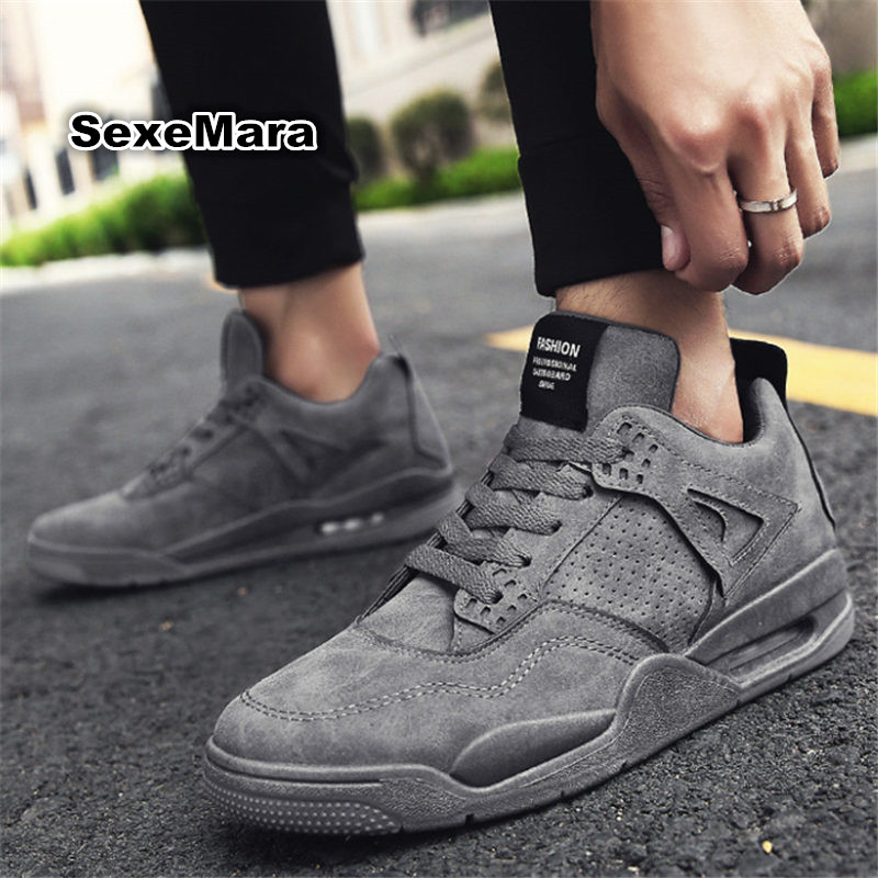 New Outdoor sport shoes Autumn winter men sneakers Air damping leather men Brand sneakers thickened running shoes zapatos hombre 2017 high quality sneakers women shoes running shoes woman leather sport shoes air damping outdoor arena athletic zapatos mujer
