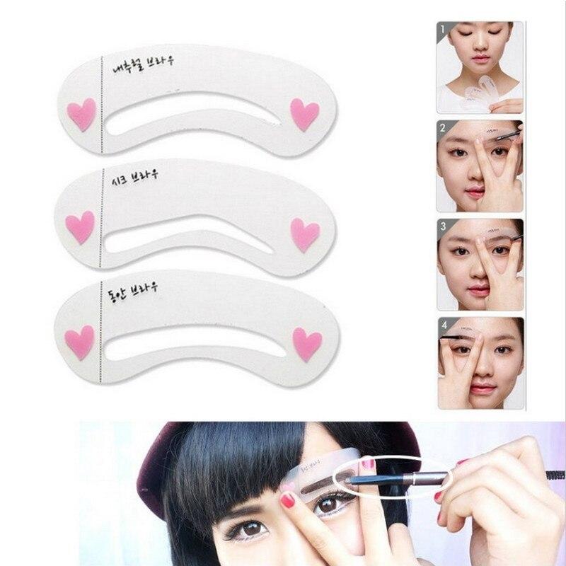 Addfavor 100 Set Eyebrow Stencils Card Eyebrow Class Makeup Tool