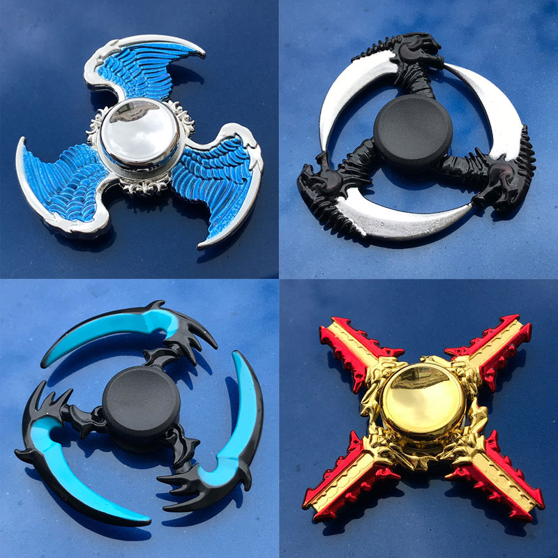 Toys For Children  Stress Relief Toy Fidget Spinner Rotating Weapons  Darts Metal