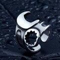 Beier anillo del motorista anillo de acero inoxidable 316l para los hombres/mujeres de la manera joyería br8-400