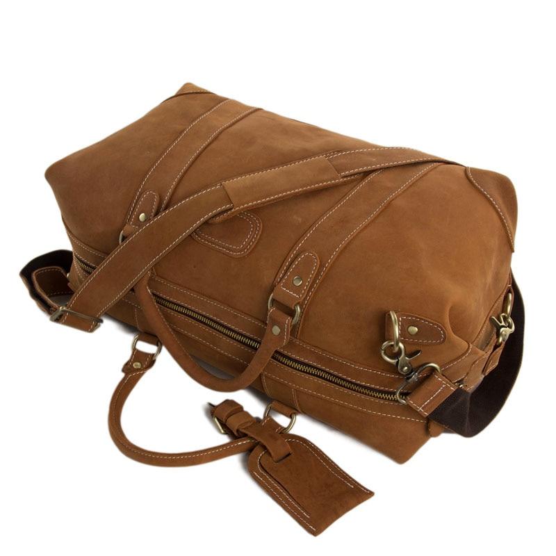 duffle de couro bolsa bolsa Estilo : Vintage