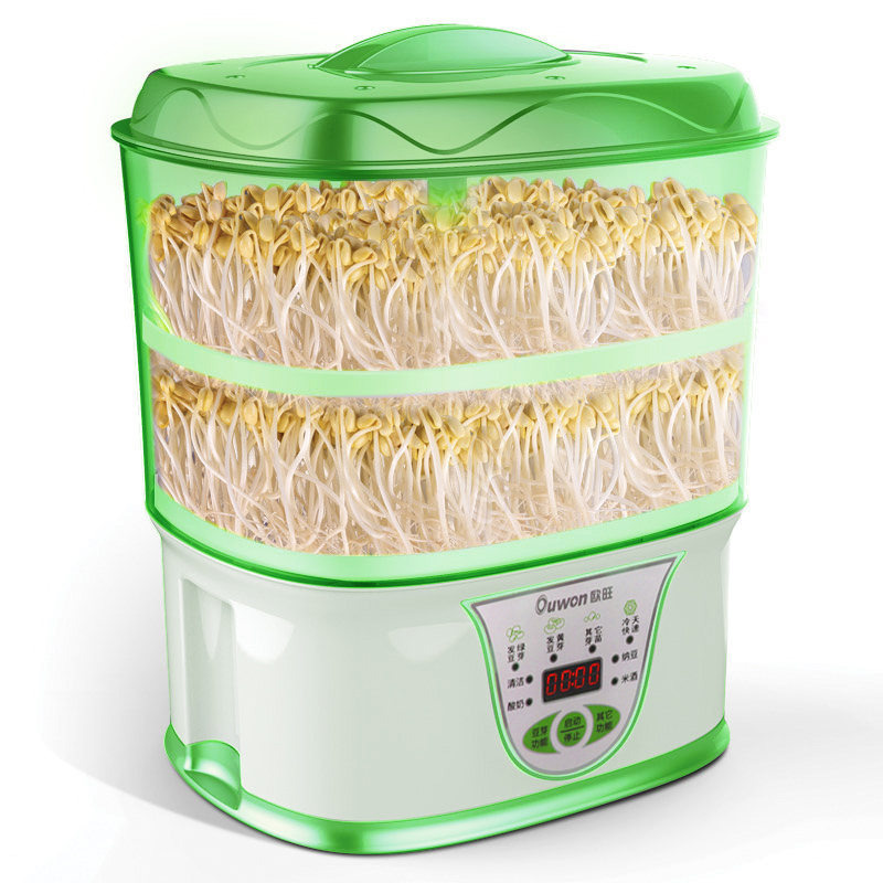 Intelligent Bean Sprouts Growing Machine Household Automatic Large Capacity 2PC Bean Sprouts Machine Making Yogurt Rice Wine household automatic multi bean sprout machine rice wine yogurt maker machine large capacity thermostat seeds growing machine