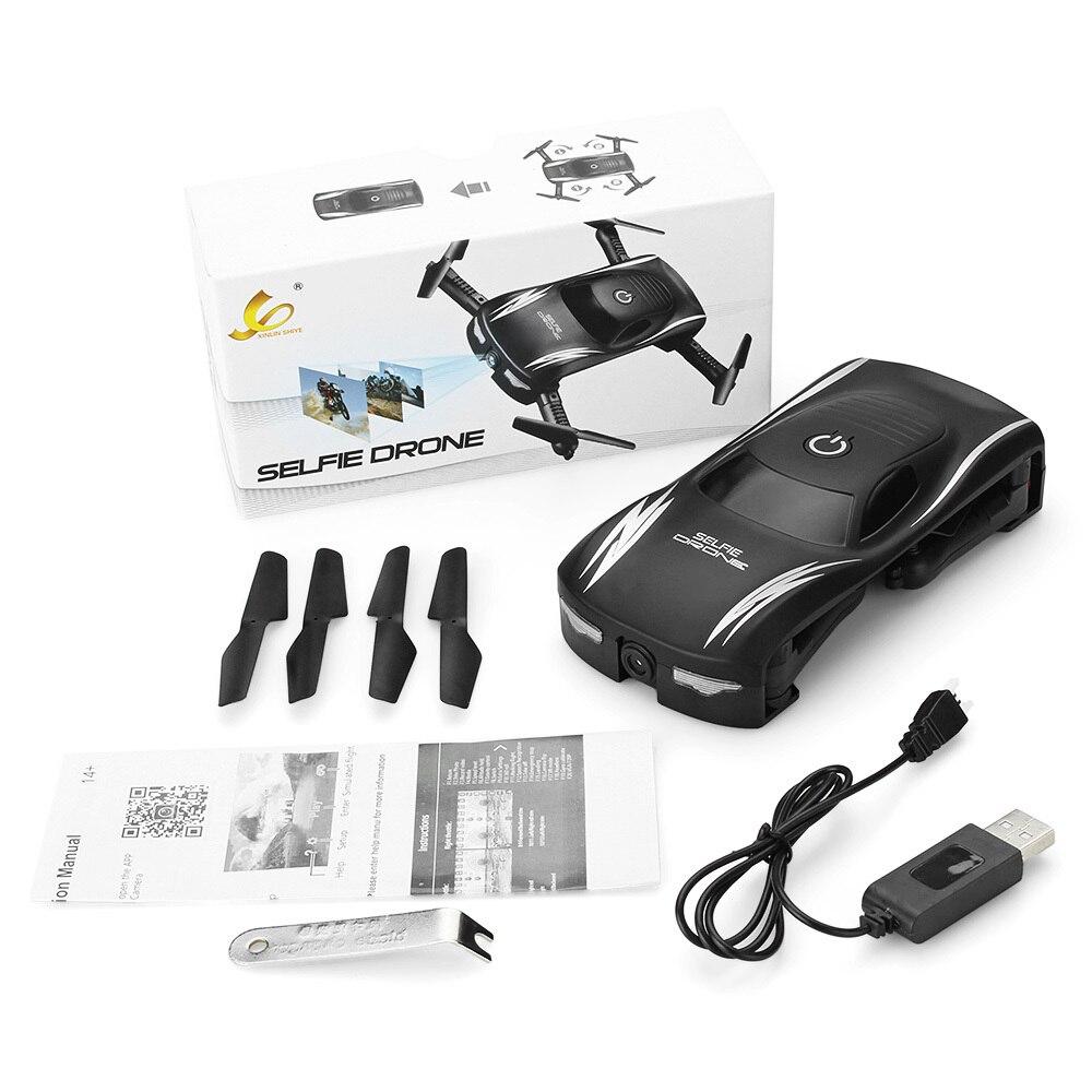 Новые Радиоуправляемый Дрон Мини Складная RC селфи дроны Wi-Fi FPV 0.3MP Камера голос Управление G-Сенсор Режим вертолет quad вертолеты