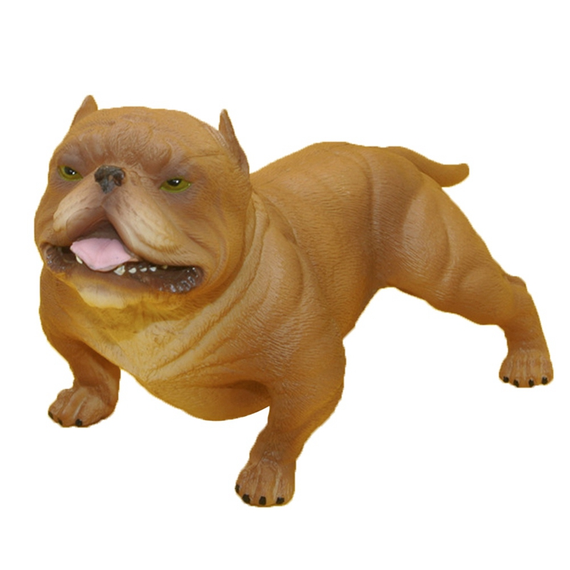 Exquisite And Cute Pet Dog Bulldog Geometric Dog Bully Dog Plastic Simulation Toy For Chidren Birstday Birthday Present Gifts