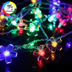 Coversage 10 متر 100 المصابيح عيد الطوق سلسلة أضواء عطلة الإضاءة زهرة ماء داخلي outdoors الزفاف الديكور