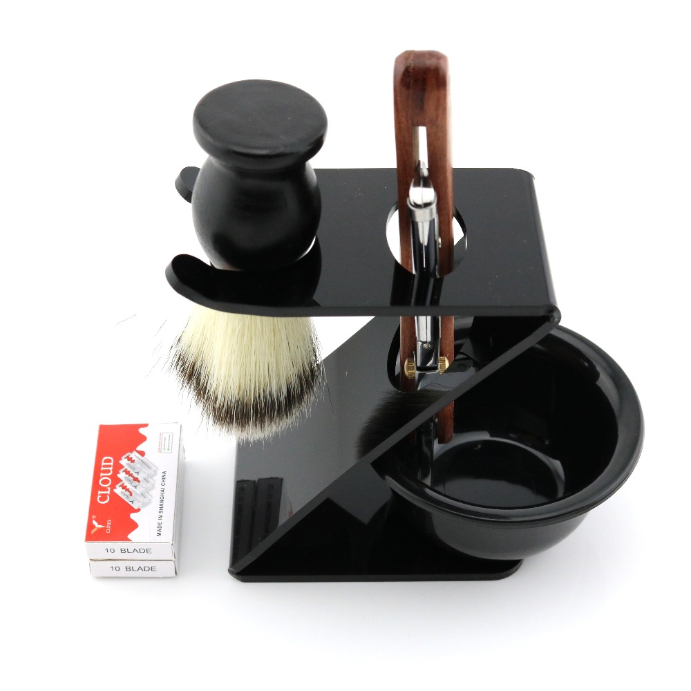 Lyrebird Polish silver Straight Razor Replaceable blade shaving razor + 20PCS blades + holder + Brush + bowl Simple packing NEW chinese antique glass door door handle door handle modern clubhouse bronze sculpture semicircular wooden handle