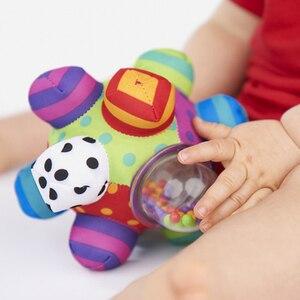 Image 2 - 赤ちゃんのおもちゃ楽しい Pumpy ボールかわいいぬいぐるみソフト布ハンドガラガラベルトレーニング把持能力のおもちゃ少年少女リングおもちゃ子供のギフト