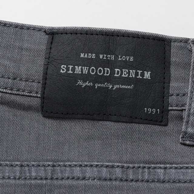 SIMWOOD 2018 New Arrival Men's Jeans Autumn Hot sale Denim Pants Brand Jeans Slim Regular Casual Plus Size Pants 180058