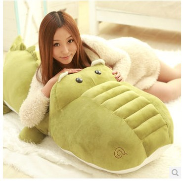 Stuffed animal crocodile army green crocodile plush toy about 140cm doll huge 55 inch toy throw pillow cushion toy t724 1pcs 52 26cm creative novelty item funny women big mouth shape cushion pink red lip plush toy throw pillow for couch pregnancy