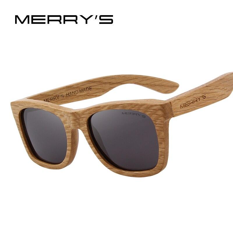 MERRY'S CONCEPTION Hommes/Femmes lunettes de Soleil En Bois Rétro Polarisées Soleil Lunettes FAITE À LA MAIN 100% UV Protection S'5140