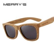 MERRYS DESIGN Men/Women Wooden Sunglasses Retro Polarized Su