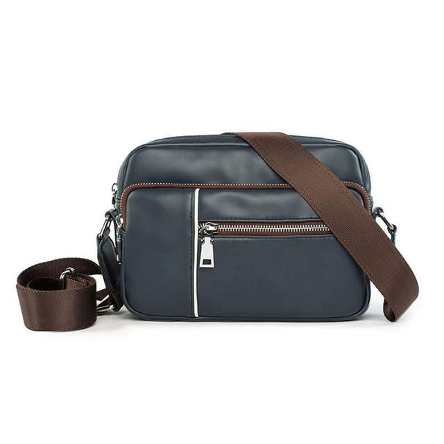 f8c5255d2b Online Shop Men s Small Satchels Bag 2018 Fashion Leisure Leather Messenger  Bag For Men Brown PU Side Bags For Mens Travel Shoulder Bag