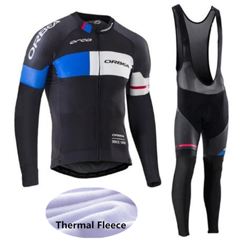 UCI 2018 Pro Finish Winter Riding Warm Wool Orbea Riding Clothes Ropa Ciclismo Mtb Long Sleeve Men Bike Wear Clothes Maillot