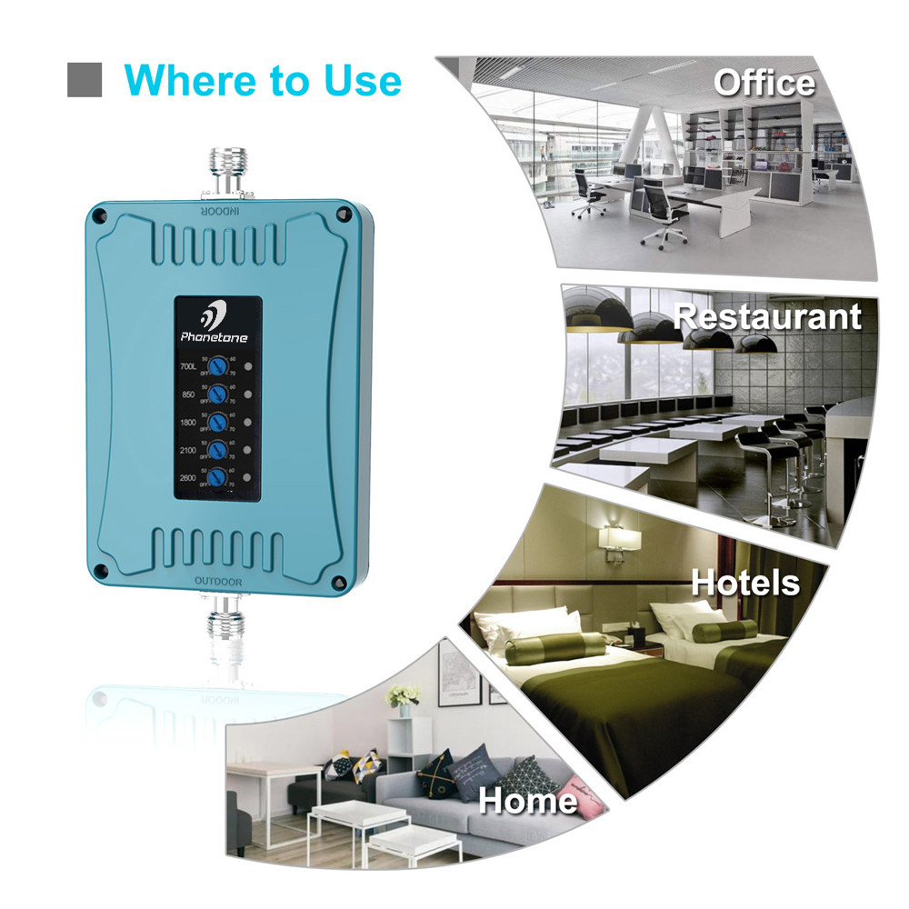 Image 2 - 2G 3G 4G Amplifier LTE 2600/1800/700/850/2100 MHz lte Repeater Mobile Phone Signal Booster 70dB Cellular Booster Band 28/5/3/1/7-in Signal Boosters from Cellphones & Telecommunications