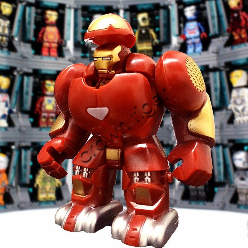 ML-K44 Super Heroes Marvel Avengers Iron Man Hulkbusters Model Figure Blocks Compatible Legoe Building Brick Toys For Children