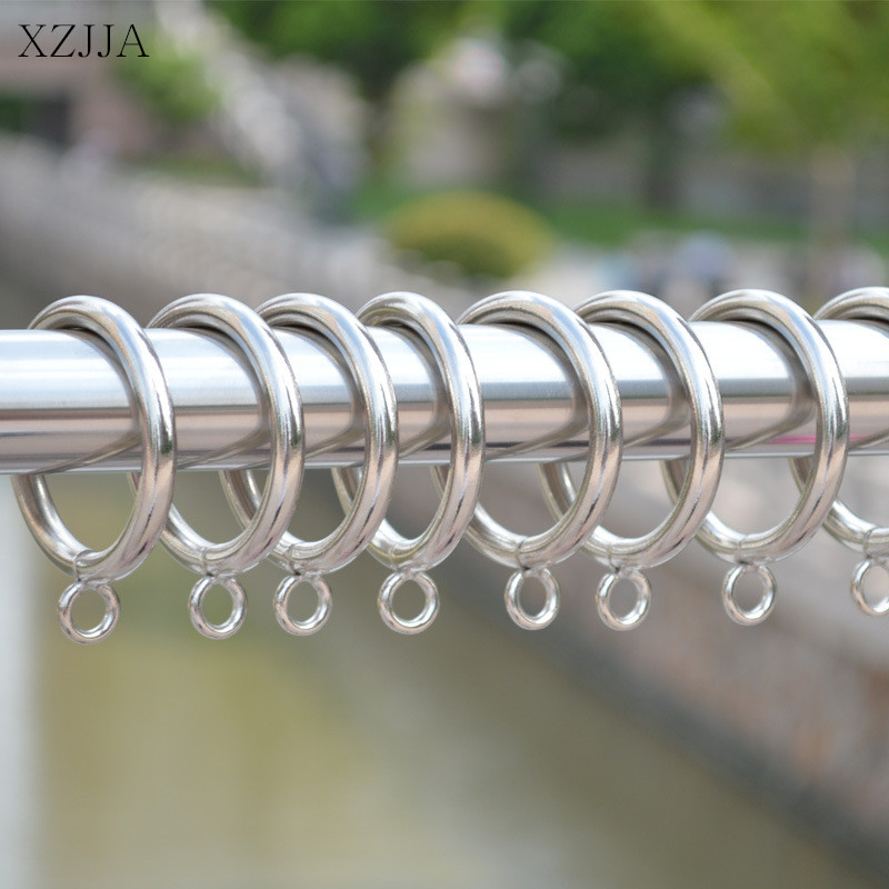 XZJJA 5PCS Stainless Steel Curtain Accessories Rod Clips Tracks Window Shower Curtain Rings Hanging Clamp Ring Drapery Clips