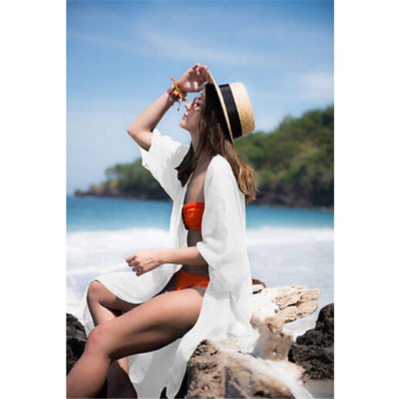 Sexy Sarongs Bikini Beach Tunic Crochet Beach Cover Up Bathing Suit White Robe De Plage Swimsuit Women Cover-Ups pareo cover ups