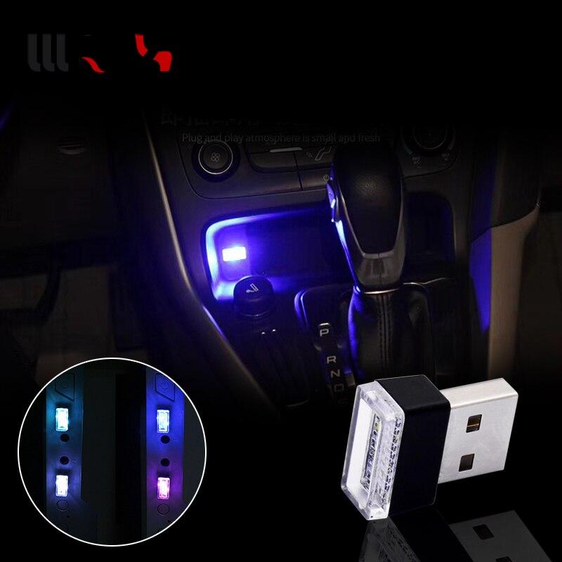 1 pz Auto-Styling USB Atmosfera HA CONDOTTO LA Luce Accessori Auto Per Hyundai Creta Tucson BMW X5 E53 VW Golf 4 7 5 Tiguan Kia Rio