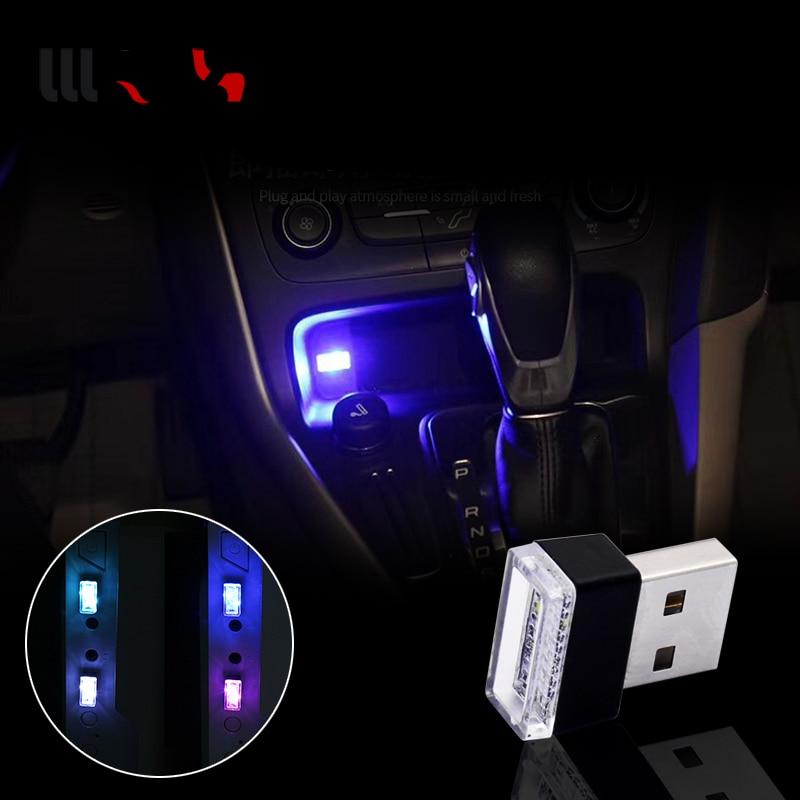 1pcs Car-Styling USB Atmosphere LED Light Car Accessories For Hyundai Creta Tucson BMW X5 E53 VW Golf 4 7 5 Tiguan Kia Rio