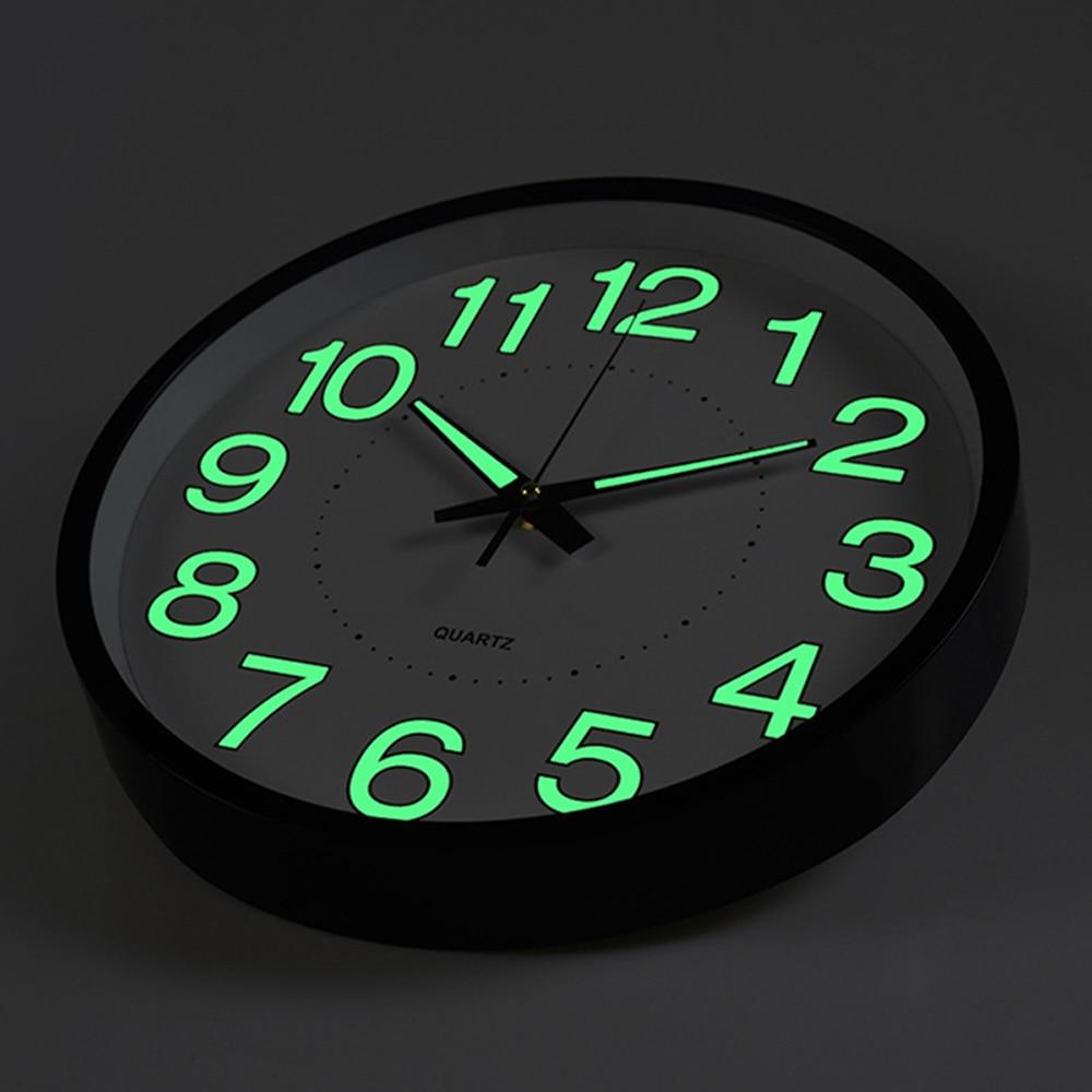 12 Inch Luminous Wall Clocks 2019 New Circular Quartz Clocks Suitable For Living Room Office Study Room Bedroom Decorations