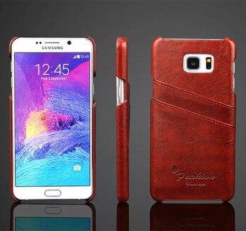 b9916971367 Funda de moda para Samsung Note 5 funda trasera de cuero estilo negocios  para Samsung Galaxy Note 5 N9200 funda con tarjeta titular de la
