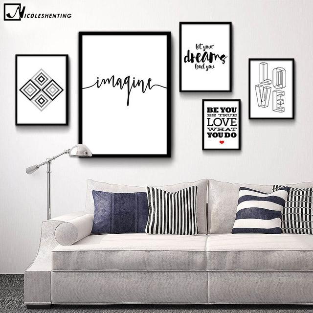 Citação motivacional Minimalista Poster Imprimir Pintura