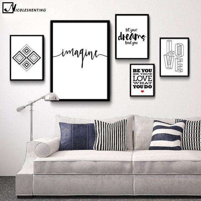 Citation De Motivation Minimaliste Art Toile Affiche