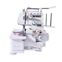 Оверлок швейная машина, 220 В пер. тока, 50/60 Гц, 120 Вт, четырех потоковый шить, с ножным рычагом лампа BL4 434D 1200SPM отличное качество