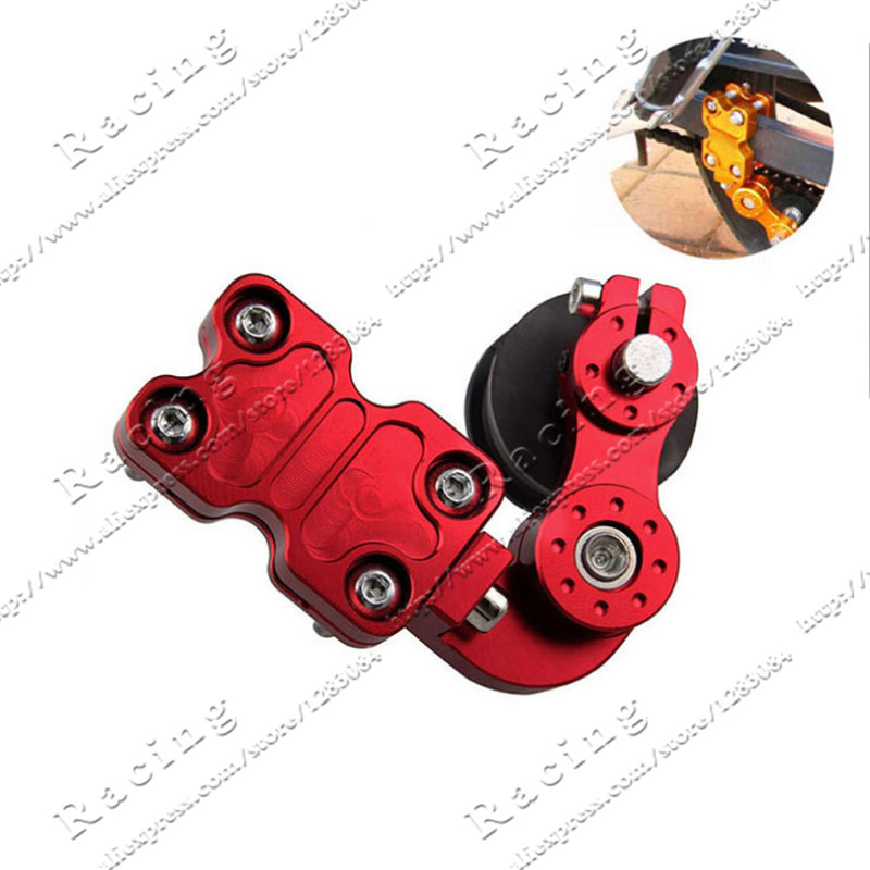Black Silver Red Gold Universal Aluminum Adjuster Chain Tensioner Roller For Motorcycle /Chopper ATV